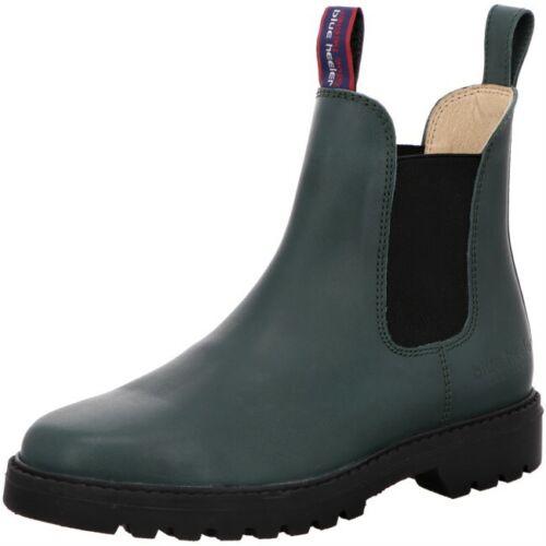 Blue Heeler MERYL Chelsea Damen Boots Outdoor Stiefel - Grün / Black   Lederfett