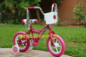 """Brand New 12"""" Bike Bicycle with Trainning Wheels for Kids Children PINK Color"""