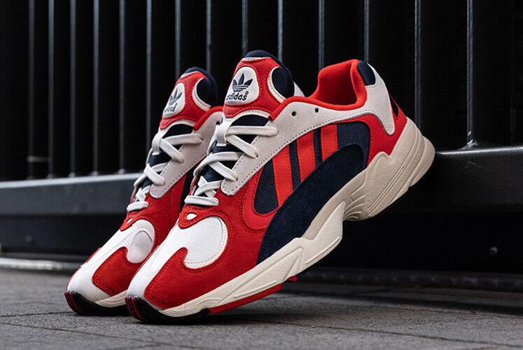 Adidas] Hi Res B37615 Yung-1 Rouge / Blanc / Bleu marine, Baskets de sport unisexes, US 4-12