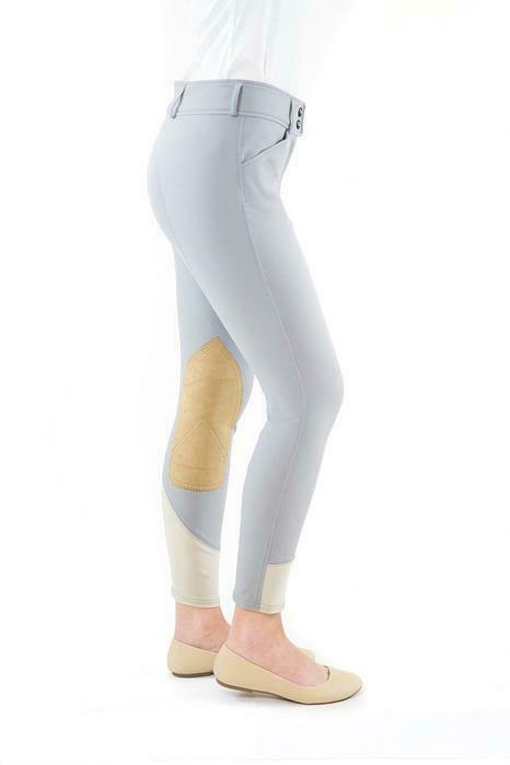 Gulf Low Rise Front Zip Breeches - Dove grau Contrast