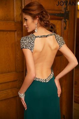 Jovani Hunter Embellished Open Back Prom Evening Dress Sz 4 NWT