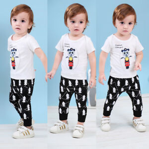 Toddler-Baby-Boy-LED-Flashing-T-shirt-Tops-Long-Pants-2pcs-Outfits-Clothes-Set