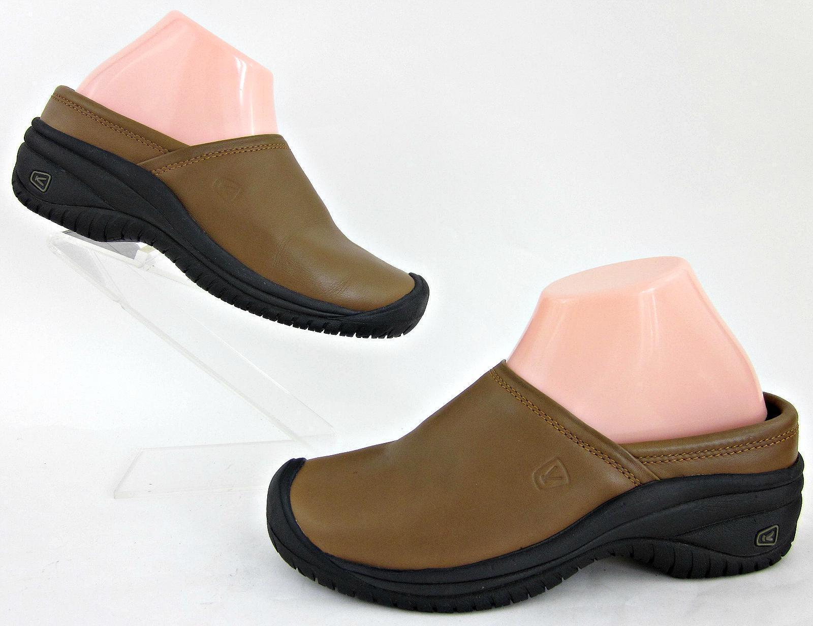 KEEN mujer Utility Work Mule Slides British Tan Sz 8 WORN ONCE