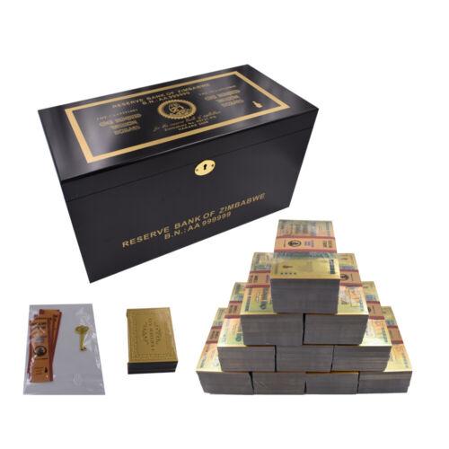 Zimbabwe Gold Banknotes 100 Trillion Paper Money Bill Note 1000pcs In Box