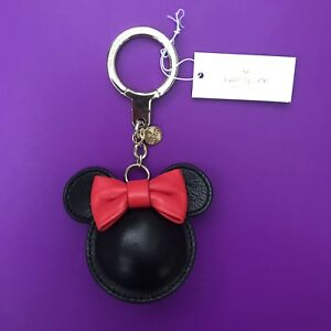 Image is loading Kate-Spade-Minnie-Mouse-Key-Chain-Fob-Ring- 8a55c8457