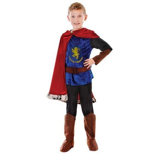 Garçons fantasy le prince charmant Tudor Médiéval Chevalier Caspienne COSTUME ROBE FANTAISIE