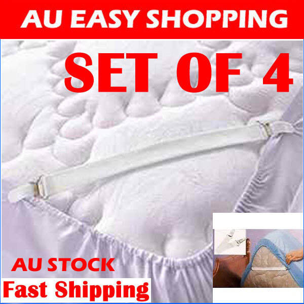 4 set Sheet grippers hold sheets tight bed/satin sheet mattress covers blankets