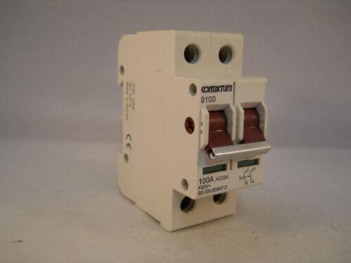 Interruptor-seccionador Contactum principal 100 Amp Aislador De Poste Doble 100 A 9100