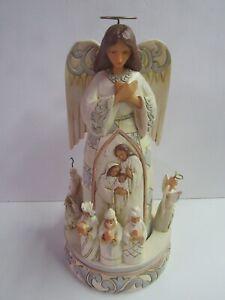 Jim-Shore-White-Woodland-Angel-Nativity-Rotator-6005689-MIB