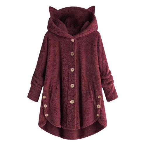 Frauen-Wintermantel mit Kapuze Jacke kurz Parka Freizeit Basic Frauen Hooded NEU