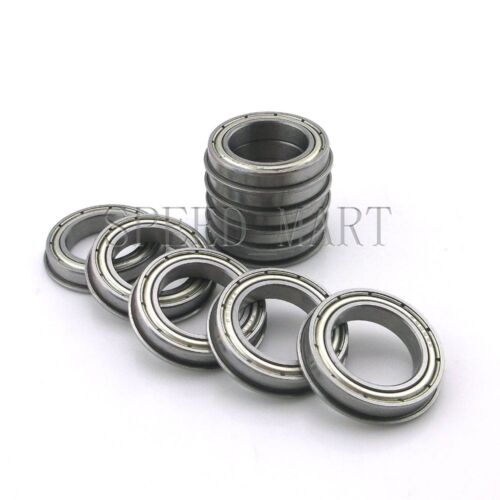 10 x F6803zz Metal Double Shielded  Flanged  Ball Bearings 17mm*26mm*5mm