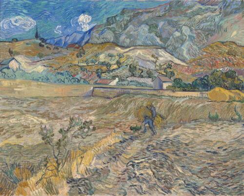 """VINCENT VAN GOGH Art Poster or Canvas Print /""""Landscape at Saint-Rémy/"""""""