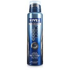 NIVEA aqua cool ( cool kick)  DEODORANT ANTIPERSPIRANT SPRAY FOR MEN