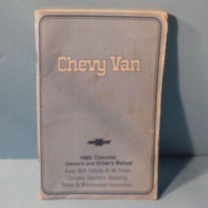 85-1985-Chevrolet-Chevy-Van-owners-manual