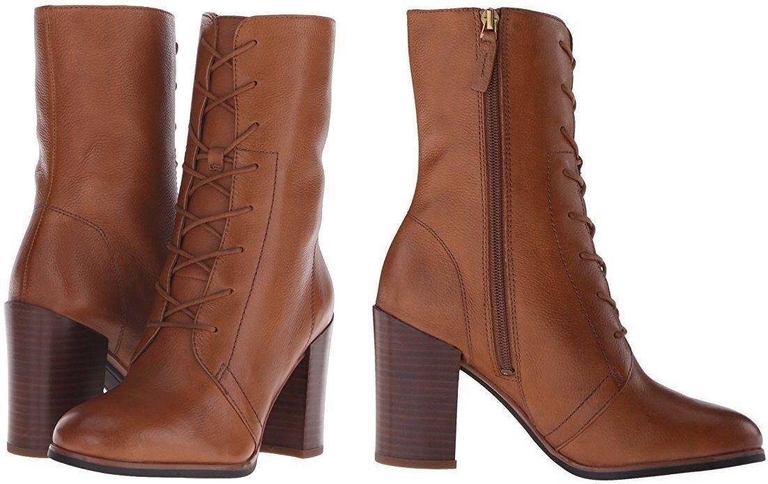Franco Sarto Women's Boot Saratoga Leather Boot Brandy Color 10M