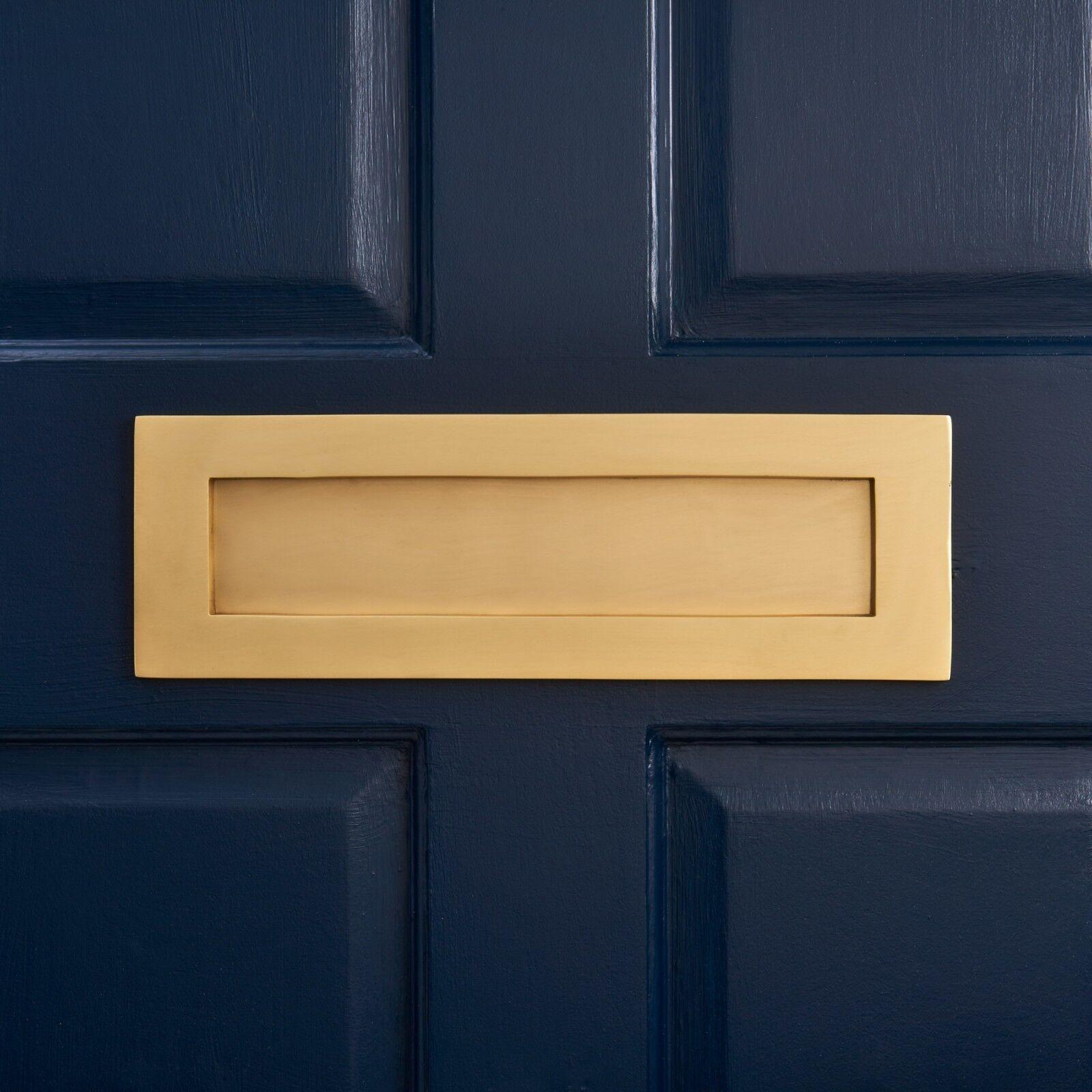 Pushka Home Luxus große moderne gebürstetes Messing Gold Federung Briefeinwurf