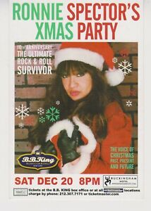 Ronnie Spector XMAS Party Ashford and Simpson promo postcard 2003