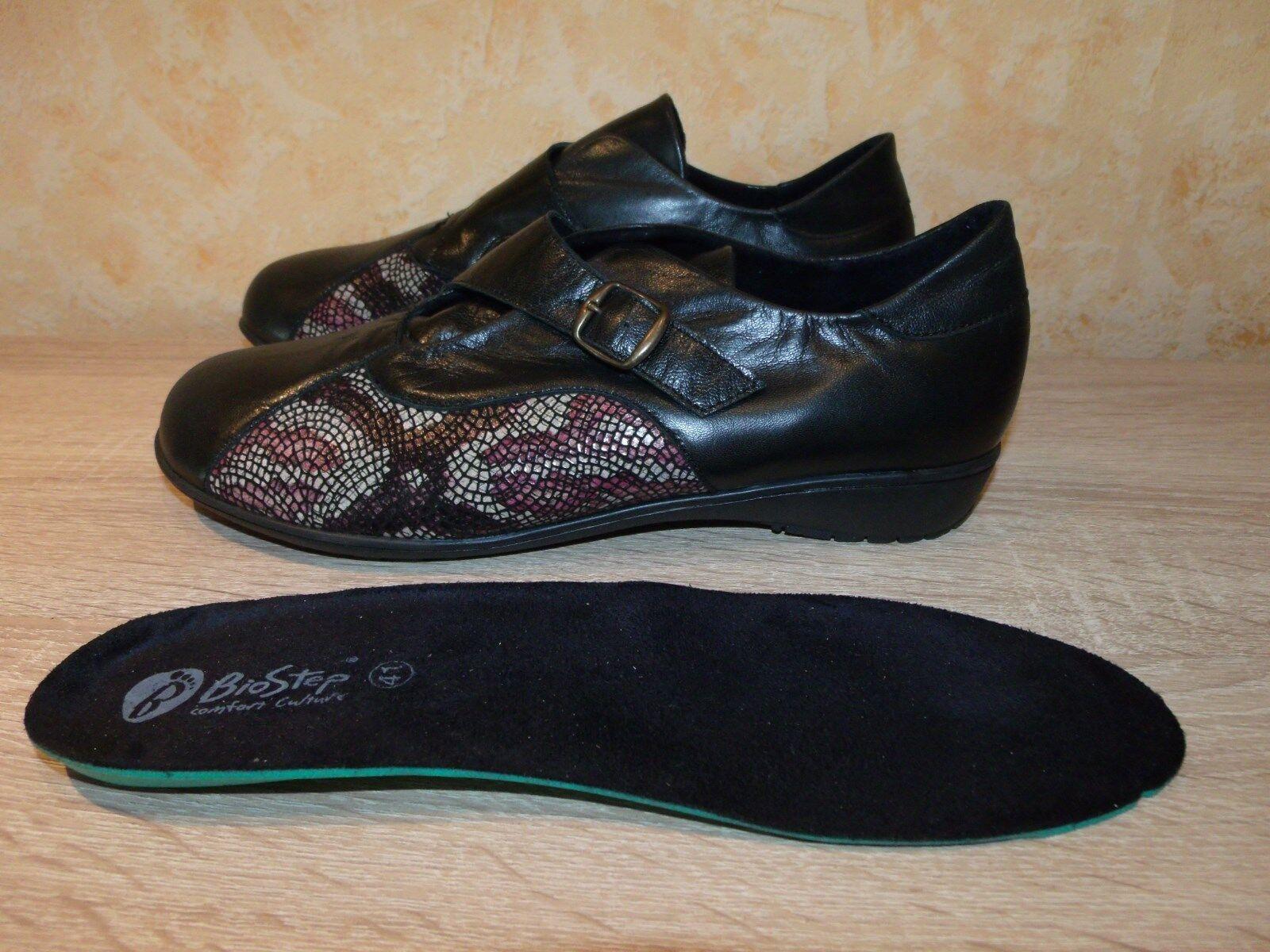 Bio Step Halbschuh Spangenschuh NEU Gr. Gr. Gr. 41 in black & Nappaleder für Hallux ca8719