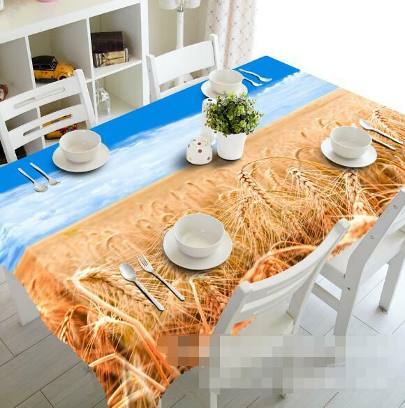 3D Wheat Sky 4 Tablecloth Table Cover Cloth Birthday Party Event AJ WALLPAPER AU