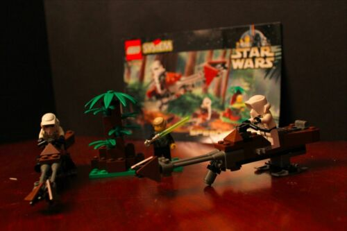 USED 1999 LEGO STAR WARS:EPISODE VI SET #7128 SPEEDER BIKES w//INSTRUCTIONS XMAS!