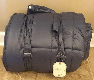 New Pottery Barn Teen Polar Puff Sleeping Bag Navy Ebay