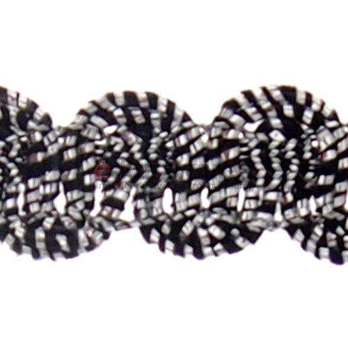 Posamentenborte 8mm//25m Metallisiertes Band Zierband Borte Nähen Deko Band