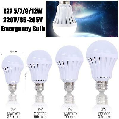 Newly E27 5/7/9/12W Rechargeable LED Bulb Emergency Camping Hunting Light Lamp