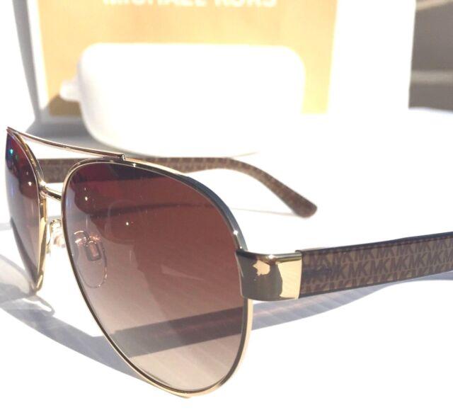 NEW* MICHAEL KORS AVIATOR Matte Brown Gold w Bronze Lens MK 1014 BLAIR Sunglass