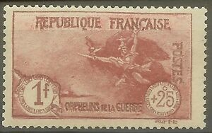 FRANCE-STAMP-TIMBRE-N-231-034-ORPHELINS-LA-MARSEILLAISE-1F-25c-034-NEUF-xx-TTB-B418