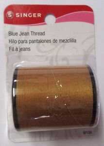 ***Singer Blue Jean Thread 100 Yards - Polyester - Old Gold 075691671204 # 67120