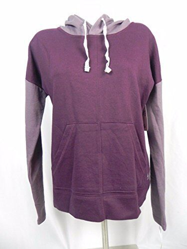$13 Soffe Womens 2 Tone Long Sleeve Pull Over Hoodie Top Purple S New