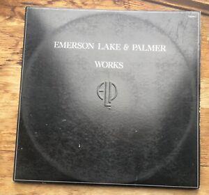 "EMERSON LAKE & PALMER ""WORKS"" LP VINYL 1977"