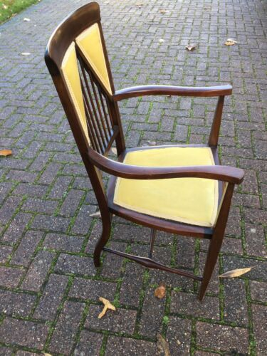 Spindle Back Upholstered Chair