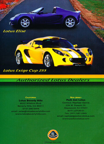 Classic Vintage Advertisement Ad PE99 2008 Lotus Elise and Exige Cup 255