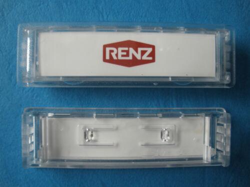 Renz Namensschild 92 97-9-82016 Preis für 10 Stück 75 x 22 mm