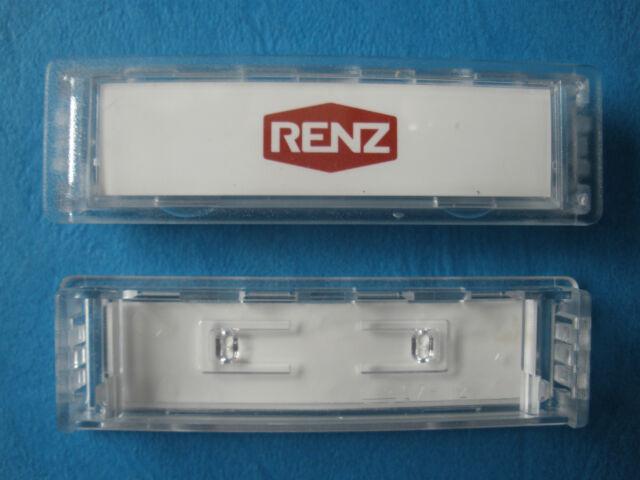75 x 22 mm Einbau bis 2009 97-9-82016 Renz Namensschild 92 grau