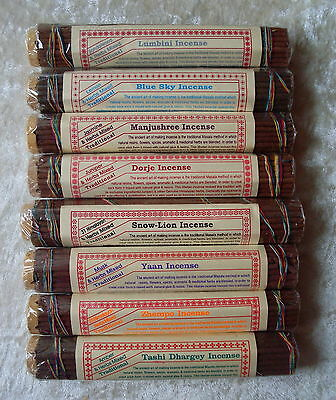 NEPAL TIBET 8 AROMAS INCENSE JOSS STICK LEMON JUNIPER SANDALWOOD MUSK - 8 PACK