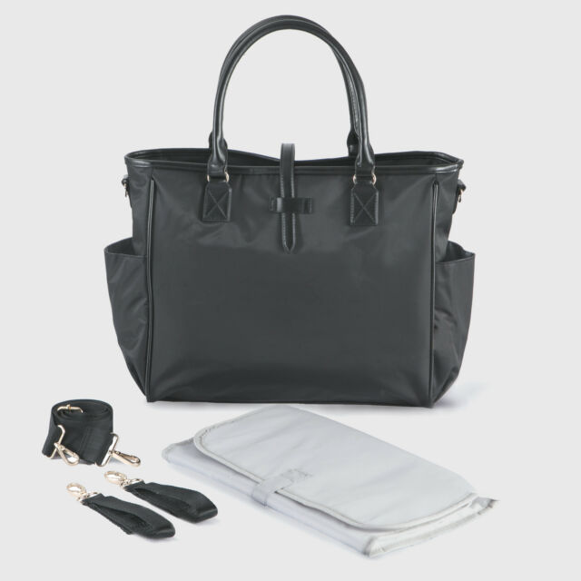Designer Black Changing Bag Black Pram Bag Large Diaper Bags by ALLIS - Kelly