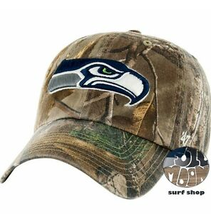 87697f2ca6a New NFL Seattle Seahawks Camo Clean Up Mens Adjustable Realtree Cap ...