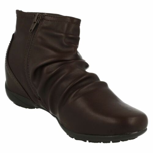 Ladies F50675 Zip Up Ankle Boots By Down To Earth Sale Price £19.99