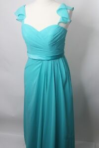 Sorella-Vita-Bridesmaid-Formal-Gown-Womens-Sz-12-Aqua-Long-Dress-Style-8446-NWT