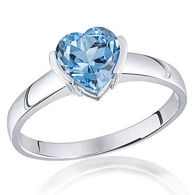Goldmaid Ring Herz 375 Weißgold Farbstein 1 hellblauer Topas