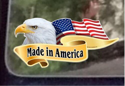"ProSticker 965 One 3/"" x 6/"" American Patriotic Made In America Decal Sticker"
