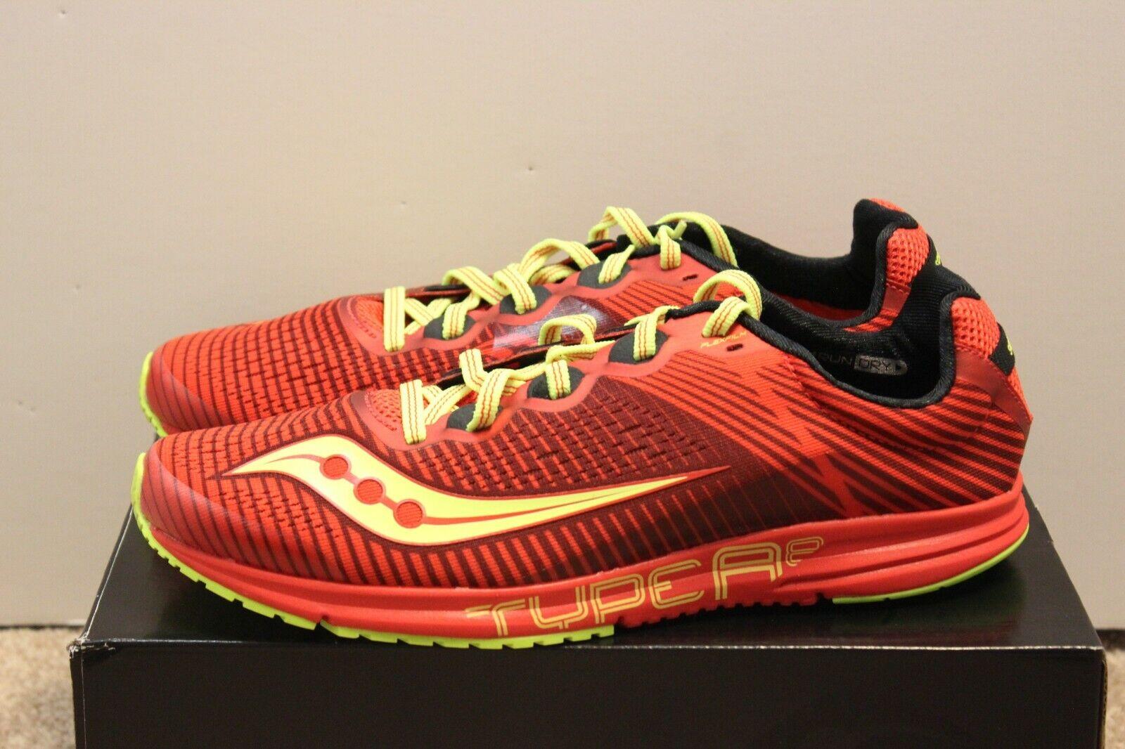 Saucony TYPE A 8 herr Storlek Storlek Storlek 8.5 Springaaande skor skor röd  Citron  grossistaffär