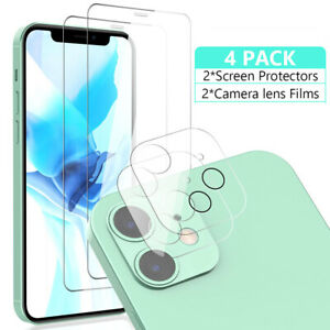 For iPhone 11 ,12 Pro Max Tempered Glass Screen Protector+Camera Lens Protector