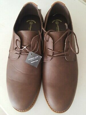 london fog collection memory foam men's casual brown new w