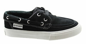 48d96ced811cc0 Converse Sea Star OX Mens Boat Shoe Trainers Black Suede Lace ...
