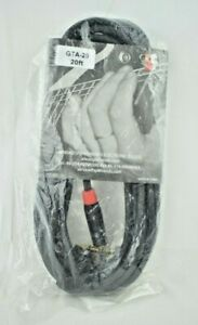 """SpeakFriends Professional Guitar Cable GTA-20 - 20 ft. 1/4"""" Straight/Angle (New)"""
