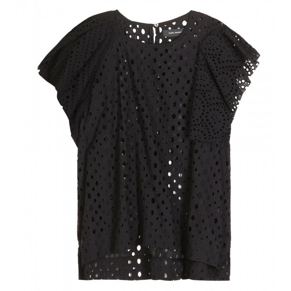 Isabel Marant Vlady French Embroidery Top in schwarz
