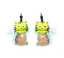 Boucles d'oreilles LOL Bijoux LOLILOTA Le chat assis Cat BFLOL052-jaune
